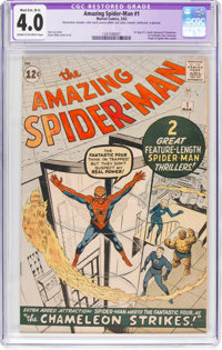 The Amazing Spider-Man #1 (Marvel, 1963) CGC Apparent VG 4.0 Moderate/Extensive (B-4) Cream to off-white pages