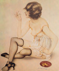 Mainstream Illustration, After Alberto Vargas (American, 1896-1982). Smoke Dreams, 1980. Offset lithograph in colors. 20 x 16.5 in. (image). Ed. ...