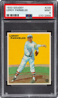 Baseball Cards:Singles (1930-1939), 1933 Goudey Leroy Parmelee #239 PSA Mint 9 - Pop Two, None Higher! ...