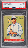 Baseball Cards:Singles (1930-1939), 1933 Goudey Eddie Farrell #148 PSA NM-MT 8 - Only One Higher. ...