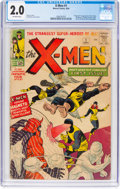 Silver Age (1956-1969):Superhero, X-Men #1 (Marvel, 1963) CGC GD 2.0 Off-white pages....