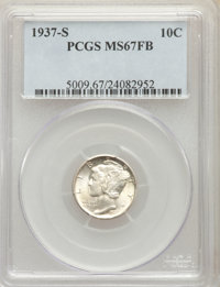 1937-S 10C MS67 Full Bands PCGS. PCGS Population: (126/2). NGC Census: (44/1). CDN: $550 Whsle. Bid for problem-free NGC...