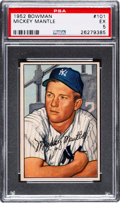 Baseball Cards:Singles (1950-1959), 1952 Bowman Mickey Mantle #101 PSA EX 5....