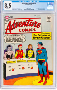 Adventure Comics #247 (DC, 1958) CGC VG- 3.5 Off-white pages
