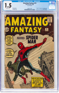 Amazing Fantasy #15 (Marvel, 1962) CGC FR/GD 1.5 Off-white pages