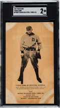 Baseball Cards:Singles (Pre-1930), 1907 Seamless Steel Tubes Co. Ty Cobb Rookie SGC 30 Good 2 - One of Six Known. ...