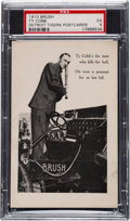 Baseball Cards:Singles (Pre-1930), 1910 Brush Automobile Postcards Ty Cobb PSA EX 5 - The Finest Example in Any Holder. ...