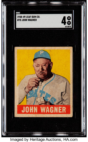 1948 49 Leaf Honus Wagner 70 Sgc Vgex 4 Baseball Cards Lot