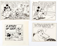 Walt Disney Artists - Mickey Mouse and Friends Panel Illustrations Original Art Group of 15 (undated).... (Total: 15 Ori...