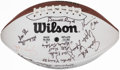 Autographs:Footballs, Football Greats Multi-Signed Football....