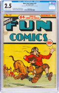 Golden Age (1938-1955):Miscellaneous, More Fun Comics #37 (DC, 1938) CGC GD+ 2.5 Off-white to white pages....