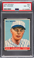 Baseball Cards:Singles (1930-1939), 1933 Goudey Bill Walker #94 PSA NM-MT 8 - Only One Higher. ...