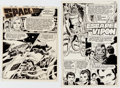 Original Comic Art:Complete Story, Pat Boyette Space: 1999 #7 Two Complete Stories Original ArtGroup of 22 (Charlton, 1976).... (Total: 22 Original Art)