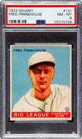 Baseball Cards:Singles (1930-1939), 1933 Goudey Fred Frankhouse #131 PSA NM-MT 8 - None Higher. ...