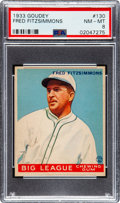 Baseball Cards:Singles (1930-1939), 1933 Goudey Fred Fitzsimmons #130 PSA NM-MT 8 - None Higher. ...