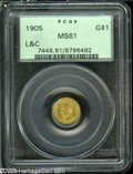 Commemorative Gold: , 1905 G$1 Lewis and Clark MS61 PCGS....