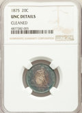 Twenty Cent Pieces, 1875 20C -- Cleaned -- NGC Details. Unc. NGC Census: (4/245). PCGSPopulation: (4/237). CDN: $750 Whsle. Bid for prob...