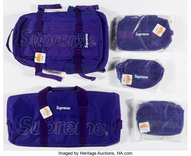 fafe7048637d Supreme X Dimension-Polyant. Bags, set of five, 2018. One duffle | Lot  #91042 | Heritage Auctions