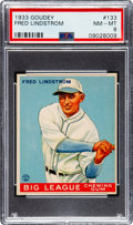 Baseball Cards:Singles (1930-1939), 1933 Goudey Fred Lindstrom #133 PSA NM-MT 8 - Three Higher. ...