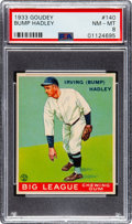 Baseball Cards:Singles (1930-1939), 1933 Goudey Bump Hadley #140 PSA NM-MT 8 - None Higher. ...