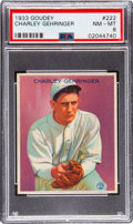 Baseball Cards:Singles (1930-1939), 1933 Goudey Charley Gehringer #222 PSA NM-MT 8 - Only Two Higher. ...