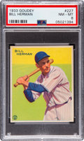 Baseball Cards:Singles (1930-1939), 1933 Goudey Bill Herman #227 PSA NM-MT 8 - Only One Higher. ...