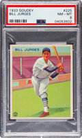 Baseball Cards:Singles (1930-1939), 1933 Goudey Bill Jurges #225 PSA NM-MT 8 - Only Two Higher. ...