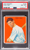 Baseball Cards:Singles (1930-1939), 1933 Goudey Tony Piet #228 PSA NM-MT 8 - Only One Higher. ...