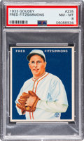 Baseball Cards:Singles (1930-1939), 1933 Goudey Fred Fitzsimmons #235 PSA NM-MT 8 - Three Higher. ...