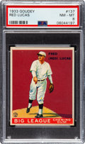 Baseball Cards:Singles (1930-1939), 1933 Goudey Red Lucas #137 PSA NM-MT 8 - None Higher. ...
