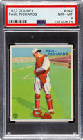 Baseball Cards:Singles (1930-1939), 1933 Goudey Paul Richards #142 PSA NM-MT 8 - Only One Higher. ...