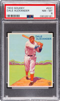 Baseball Cards:Singles (1930-1939), 1933 Goudey Dale Alexander #221 PSA NM-MT 8 - Only One Higher. ...