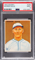 Baseball Cards:Singles (1930-1939), 1933 Goudey George Davis #236 PSA Mint 9 - Pop Two, None Higher!...
