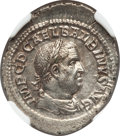 Ancients:Roman Imperial, Ancients: Balbinus (AD 238). AR denarius (20mm, 2.51 gm, 7h). NGCChoice AU ★ 4/5 - 4/5, Fine Style....