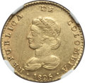 Colombia, Colombia: Republic gold 2 Escudos 1825-JF AU Details (ObverseTooled) NGC,...