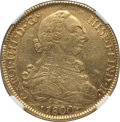 Chile, Chile: Charles IV gold 8 Escudos 1800 So-JA AU55 NGC,...