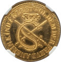 German States:Saxony, German States: Saxony. Johann Georg I gold Restrike Ducat 1616-Dated (18th-19th Century) MS65 NGC,. ...