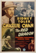 Memorabilia:Poster, Charlie Chan in The Red Dragon One-Sheet Movie Poster (Monogram Pictures, 1945)....