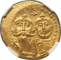Ancients:Byzantine, Ancients: Heraclius (AD 610-641) and Heraclius Constantine.AVsolidus (4.53 gm). NGC MS 4/5 - 3/5....