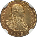 Colombia, Colombia: Ferdinand VII gold Escudo 1809 NR-JF MS61 NGC,...