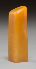 Carvings, A Chinese Carved Tianhuang Seal. 2-1/8 x 5/8 x 5/8 inches (5.4 x 1.6 x 1.6 cm). ...
