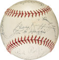 Autographs:Baseballs, 1942 New York Yankees - AL Champs - Team Signed Baseball (22 Signatures)....
