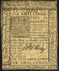Colonial Notes:Delaware, Delaware January 1, 1776 6s Extremely Fine.. ...