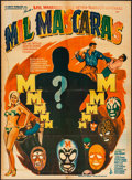 """Movie Posters:Action, Mil Mascaras (Columbia, 1969) Folded, Fine+. Mexican One Sheet (26.5"""" X 36"""") Ruizo Artwork. Action...."""