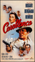 "Movie Posters:Academy Award Winners, Casablanca (MGM, R-1988/R-1992) Rolled, Very Fine+. Video Poster (20"" X 35.75"") Bob Gleason Artwork & 50th Anniversary Video... (Total: 2 Items)"
