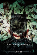 """Movie Posters:Action, The Dark Knight (Warner Brothers, 2008) Rolled, Very Fine+. One Sheet (27"""" X 40"""") SS Advance. Action...."""