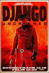 """Django Unchained (Weinstein, 2012) Rolled, Very Fine+. Soundtrack Poster (24"""" X 36"""") SS Advance. Western"""