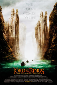 The Lord of the Rings: The Fellowship of the Ring & Other Lot (New Line, 2001) Rolled, Very Fine/Near Mint. One Shee...