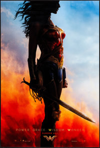 "Wonder Woman (Warner Brothers, 2017) Rolled, Very Fine+. One Sheet (27"" X 40"") DS Advance. Action"
