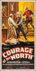 """Movie Posters:Western, Courage of the North (Stage and Screen Productions, 1935) Fine/Very Fine on Linen. Three Sheet (41"""" X 80""""). Western...."""